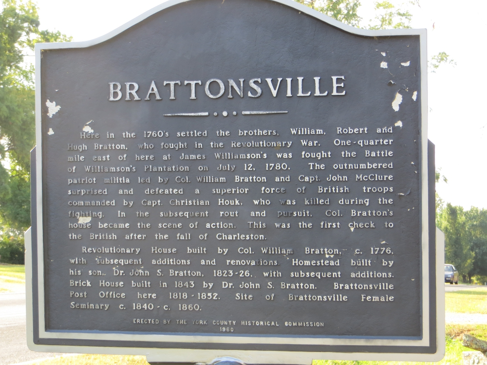 Historic Brattonsville Revisited
