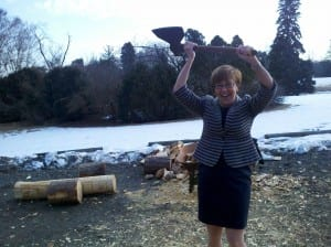 Kat Imhoff, President & CEO of The Montpelier Foundation Strikes a Victory Pose