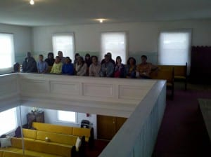 The Balcony in Good Hope Baptist Church, Eastover, SC