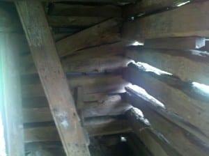 Interior of Slave Cabin at McCollum Farm