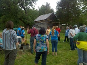 Descendants of slaves and slave owner gathering at McCollum Farm in Madison, NC