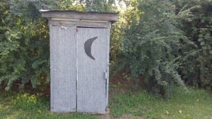 Functional Outhouse at the Crocket Miller House, James City, NC