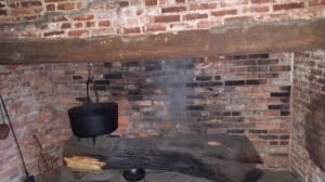 Hearth inside the Slave Quarters