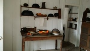 Inside the slave dwelling at Old Alabama Town