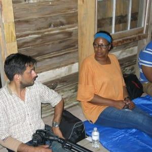 Inside the slave cabin at Laurelwood Plantation