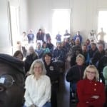 Standing room only crowd at Hampton Plantation