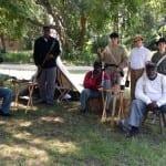 Union and Confederate reenactors at the Seashore Farmers Lodge