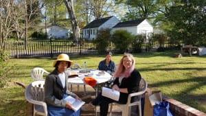 Volunteers at Burton Place