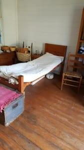 Bed inside the slave cabin at Washington State Park