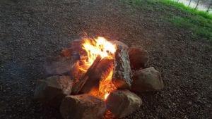Campfire at Monticello